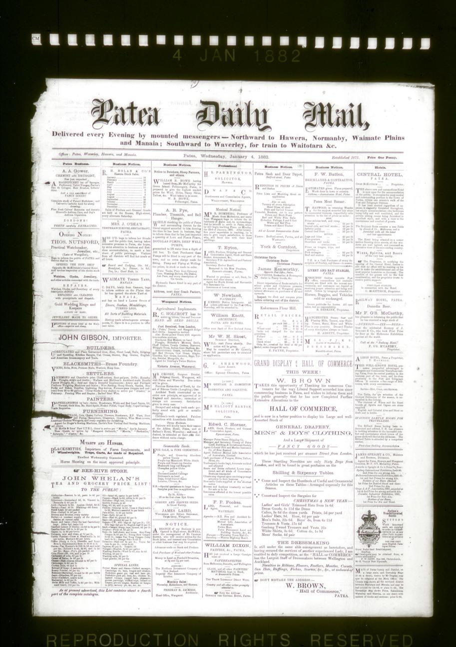 Patea Daily Mail, Jan 4 1882