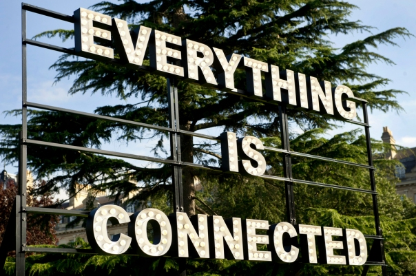 Peter Liversidge's Everything is Connected at Frieze London 2012 in the Sculpture Park on view until October 14. Photograph by Linda Nylind.