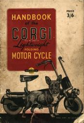 Corgi Folding Motorcycle booklet