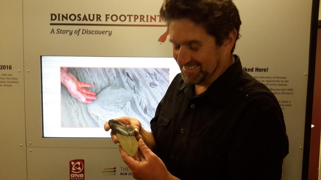 rob and megalodon tooth