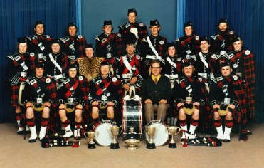 Hawera Pipe Band, 1978, #6232 - Copy