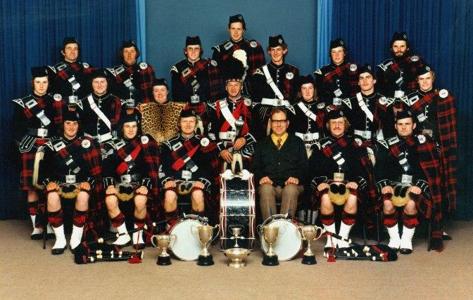 Hawera Pipe Band, 1978, #6232 - Copy